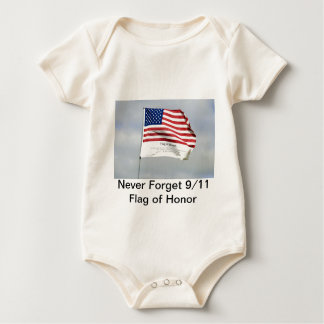 Never Forget 9/11 Flag of Honor Baby Bodysuit