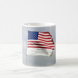 Never Forget 9/11 Flag of Honor Coffee Mug