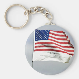 Never Forget 9/11 Flag of Honor Keychain