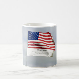 Never Forget 9/11 Flag of Honor Classic White Coffee Mug