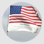 Never Forget 9/11 Flag of Honor sticker