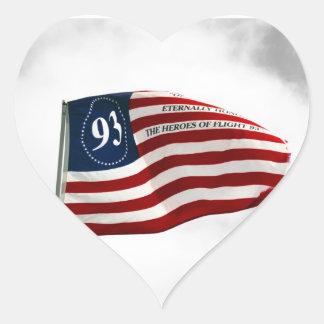 Never Forget 9/11- Flight 93 Heart Sticker