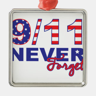 Never Forget 9/11 Metal Ornament
