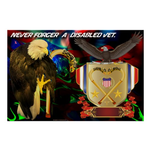 Never-forget-a-disabled-vet Poster