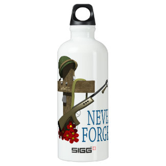 Never Forget Aluminum Water Bottle