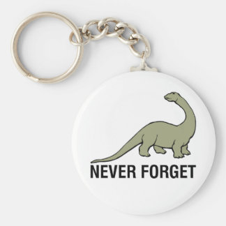 Never Forget Basic Round Button Keychain