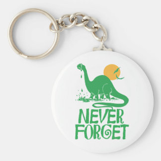 Never Forget Big Dot Basic Round Button Keychain