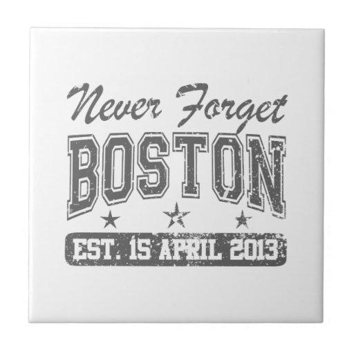 Never Forget Boston Ceramic Tile