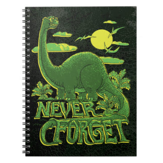 Never Forget Brontosaurus Dinosaur With Shades Notebook