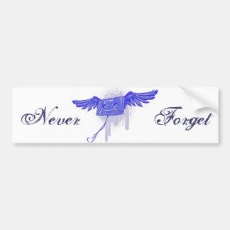 Never Forget (Cassette Tape) Car Bumper Sticker