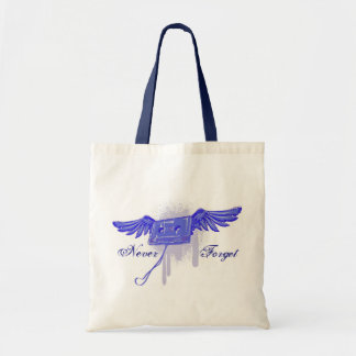 Never Forget (Cassette Tape) Canvas Bags