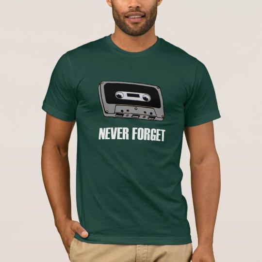 Never Forget Cassette Tape Dark T-Shirt