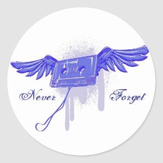 Never Forget (Cassette Tape) Sticker