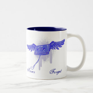 Never Forget (Cassette Tape) Two-Tone Coffee Mug