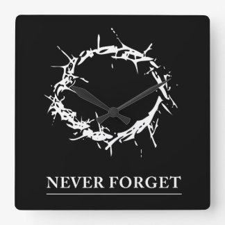 Never Forget clock