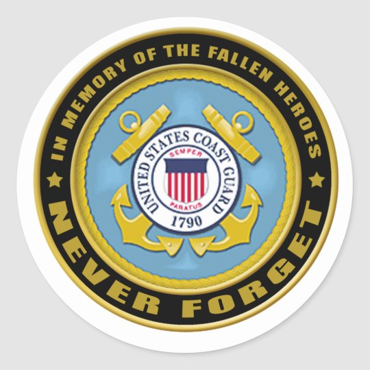Never Forget Coast Guard copy Classic Round Sticker