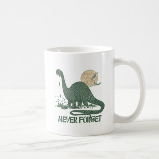Never Forget Dinosaur shirts and gift ideas Coffee Mug