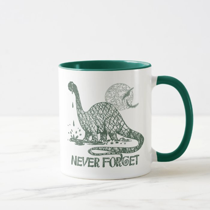 Never Forget Dinosaur shirts and gift ideas Mug