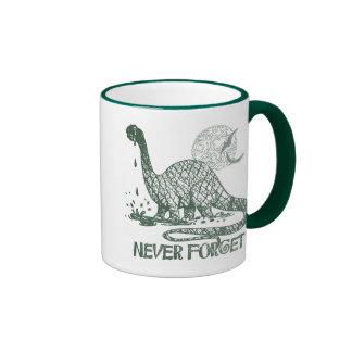Never Forget Dinosaur shirts and gift ideas Ringer Mug