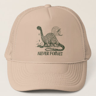Never Forget Dinosaur shirts and gift ideas Trucker Hat