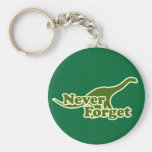 Never Forget Dinosaurs Keychain