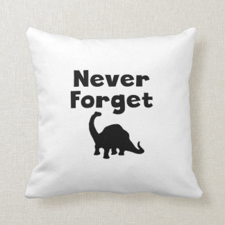 Never Forget Dinosaurs Throw Pillow