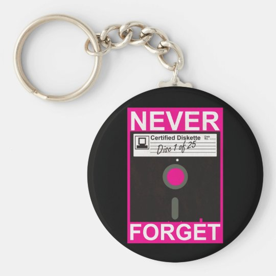 Never Forget Disk Keychain