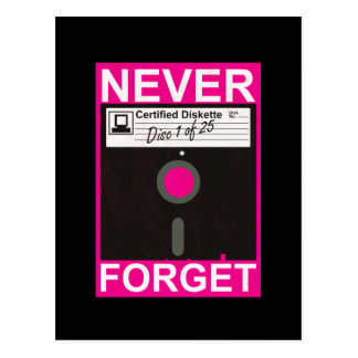 Never Forget Disk Post Cards