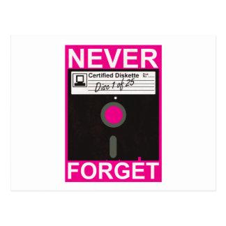 Never Forget Disk Postcard