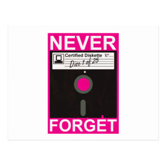 Never Forget Disk Postcards