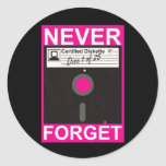 Never Forget Disk Sticker