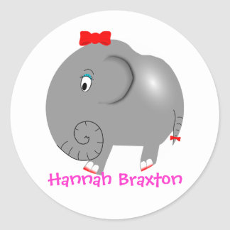 Never Forget Elephant Personalised Name Label