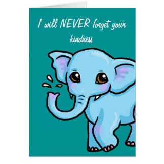 Never forget Elephant Thank you card