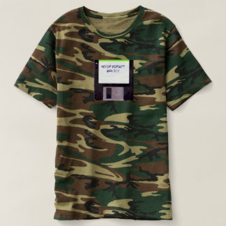 Never Forget Floppy Disk Camouflage T-shirt
