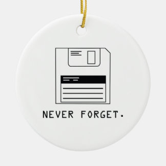 Never Forget : Floppy Disk Christmas Ornament