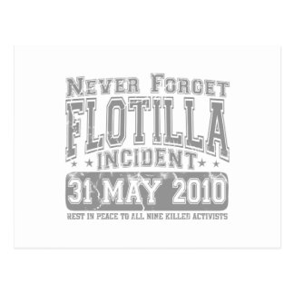 Never Forget Flotilla Incident Postcard