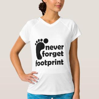 NEVER FORGET FOOTPRINT T-Shirt