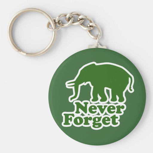 Never Forget Funny Satire Elephant Key Chains