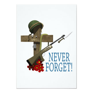 Never Forget 5x7 Paper Invitation Card