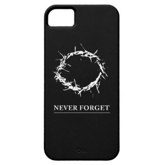 Never Forget iPhone case (white text) iPhone 5 Case