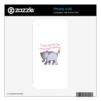 NEVER FORGET KINDNESS SKINS FOR iPhone 4S