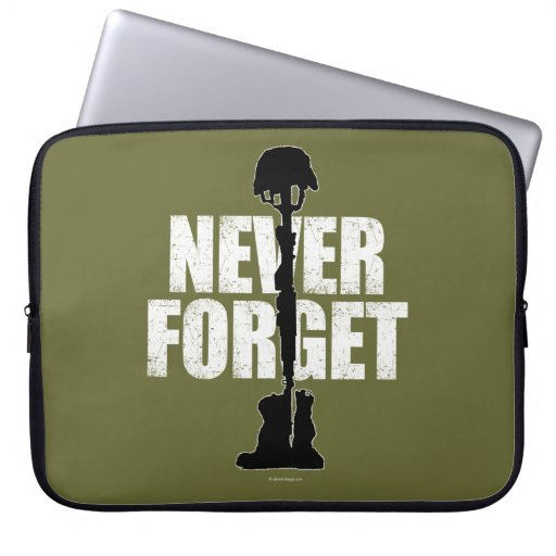 Never Forget (Memorial Day) Laptop Computer Sleeve