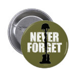 Never Forget (Memorial Day) Pinback Buttons