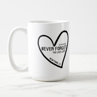 Never Forget Newtown CT Coffee Mug