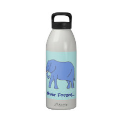 Never Forget...Peaceful Blue Elephant Walking
