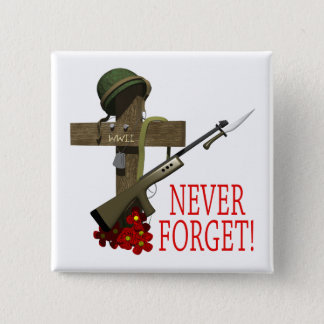 Never Forget Pinback Button