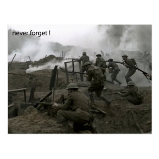 Never Forget Rememberance Day Postcard