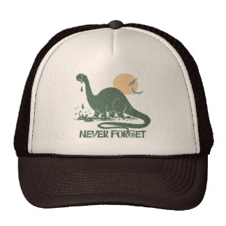 Never Forget Sad Sauropod by Mudge Studios Mesh Hat