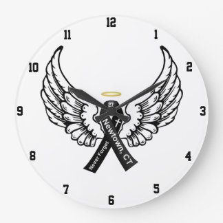 Never Forget Sandy Hook Elementary Large Clock