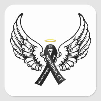 Never Forget Sandy Hook Elementary Square Sticker